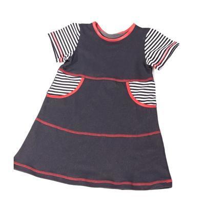 Dievčenské šaty krátky rukáv Lucie - 1