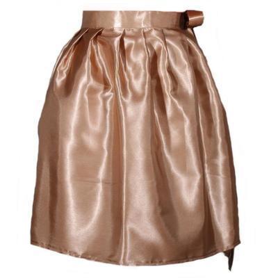 Hnědá saténová zavinovací sukně Victorie - 1