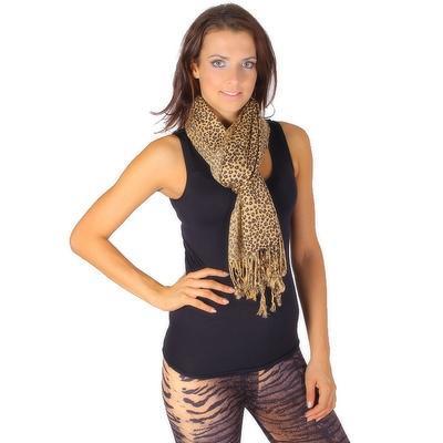 Trendy šátek Nancy hnědý - 1