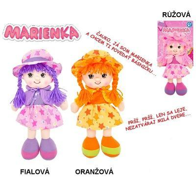 Hadrová panenka slovensky mluvící 31cm Marienka