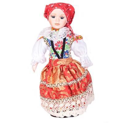 DOLL porcelánová panenka v kroji Zoe 30cm