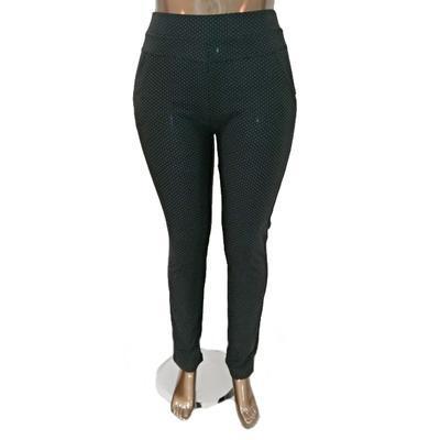 Moderní kalhotové legíny Dakota černé - 1