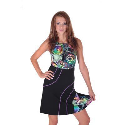 Letné šaty Meriel so zaväzovaním za krk - 1