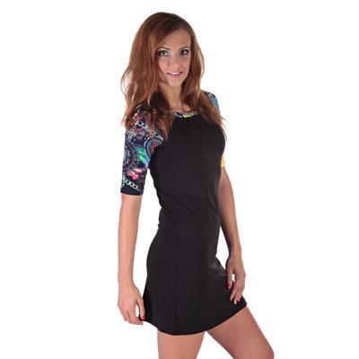 Krátke čierne šaty Aimee - 1