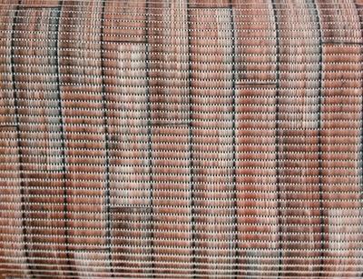 Gumová koupelnová rohož 65cm Dřevo červené