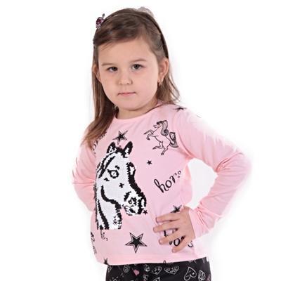 Světle růžové měnící tričko Sulejka - 1