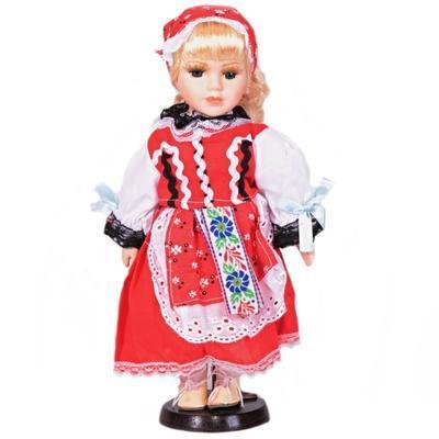 DOLL porcelánová panenka v kroji Aida 30cm