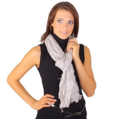 Světle šedý šátek Ema