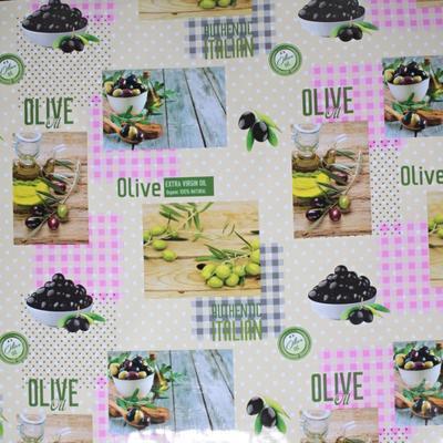 Omyvatelný ubrus s modrním motivem oliv Julie