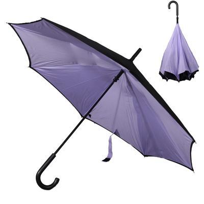Obrácený fialový jednobarevný deštník Velerie - 1