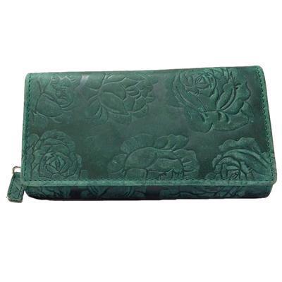 Dámská luxusní kožená peněženka Thea zelená - 1