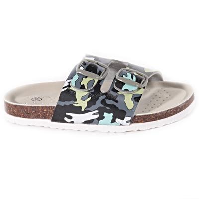 Detské papuče Army zelené - 1