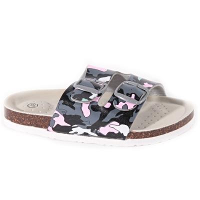 Detské papuče Army ružové - 1