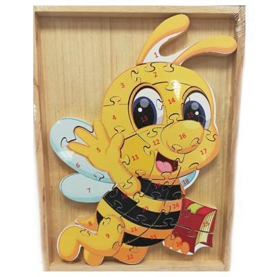 Dětské dřevěné puzzle Včelka