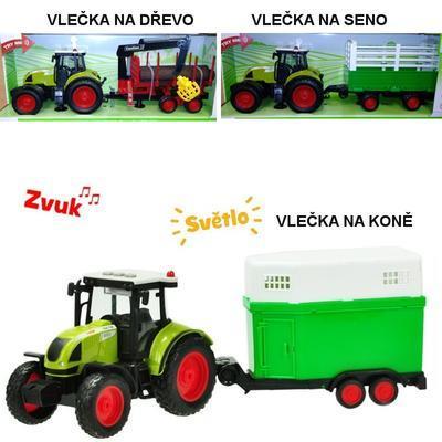 Traktor s vlečkou na setrvačník Ajax
