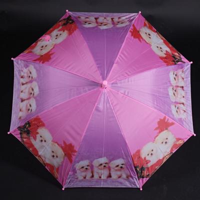 Holový detský dáždnik Kara ružový - 1