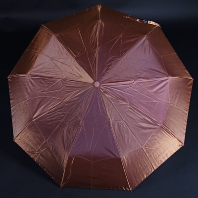 Luxusný dámsky skladací dáždnik DARSI hnedý - 1