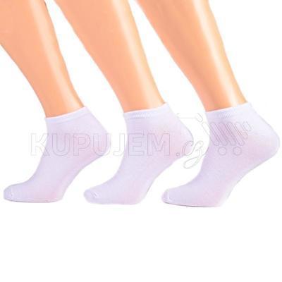 Pánské nízké bílé ponožky z bambusu I4b