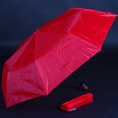 Jednofarebný skladací dáždnik Lejla červený - 1