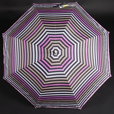 Pruhovaný dáždnik Dora hnedý - 1
