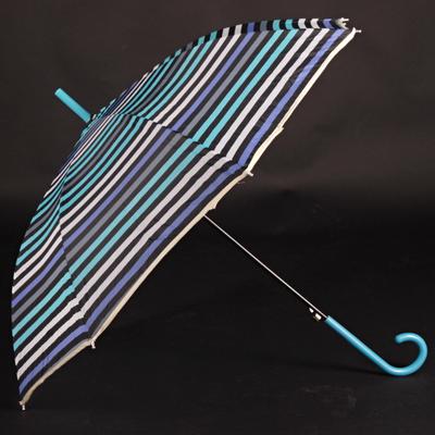 Pruhovaný dáždnik Dora modrý - 1