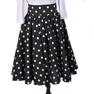 Retro dámska sukňa Black čierny puntík - 1