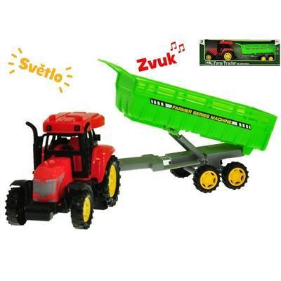 Traktor na setrvačník s vlečkou 35cm Samuel