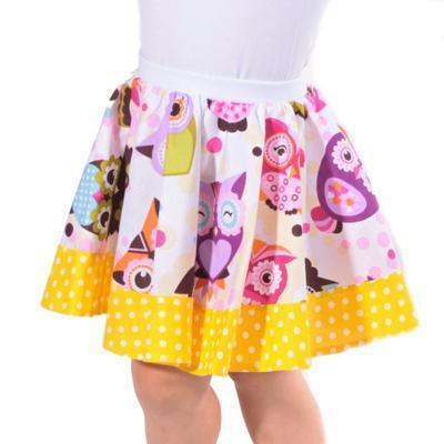 Dívčí kolová sukně Sova - 1
