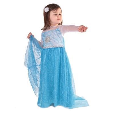 Karnevalový kostým princezna Elsa modré - 1