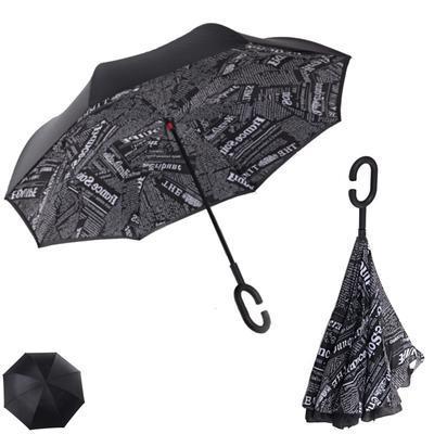 Obrácený deštník s novinovým potiskem Lante