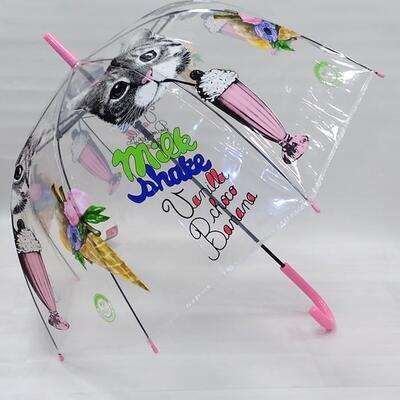 Vystřelovací deštník Mourek růžový - 2
