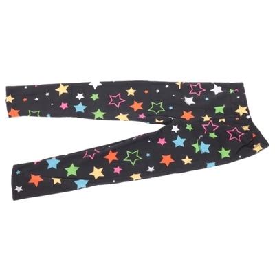 Dětské zimní legíny Hvězdičky černé - 2
