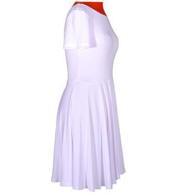 Bílé jednobarevné šaty Scarlet - 2