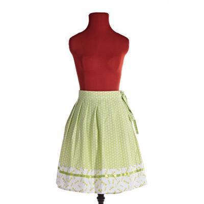Zelená zavinovací sukně Katey s vážkami - 2