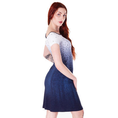 Modré šaty Melody s potiskem - 2