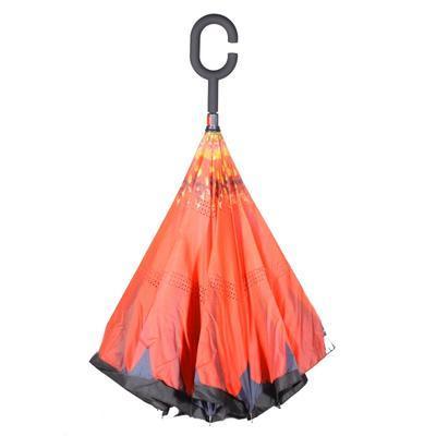 Obrácený deštník Florenc červený - 2