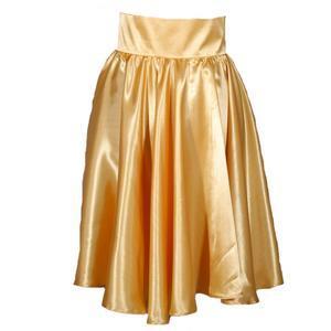 Zlatá saténová sukně s pevným pasem Kimberly - 2/2