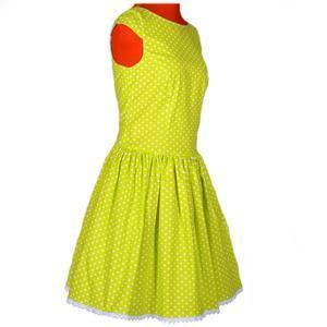 Zelené šaty Elisha s puntíky - 2/4
