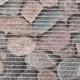 Gumová kúpeľňové rohože 65cm Kameny šede - 2/2