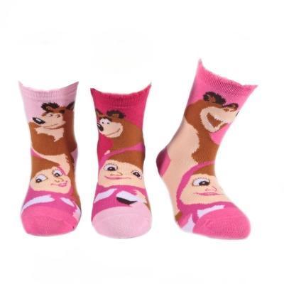 Dívčí ponožky s Mášou a medvědem P8a R  - 2