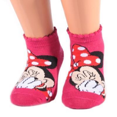 Kotníkové dívčí ponožky Minnie Mause P4c CR  - 2