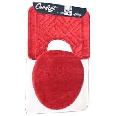 Koupelnová předložka Max červená set 3ks - 2