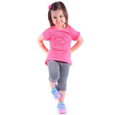 Neónovo ružové tričko Love - 2