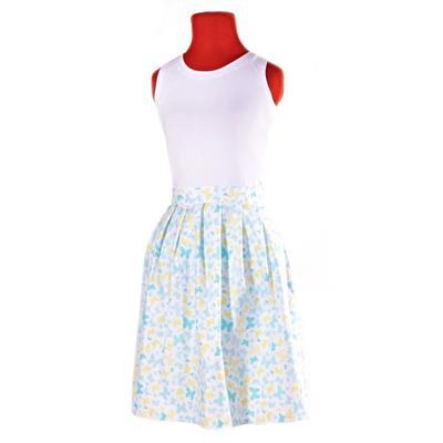 Modrá zavinovací sukně Jenny s motýly - 2