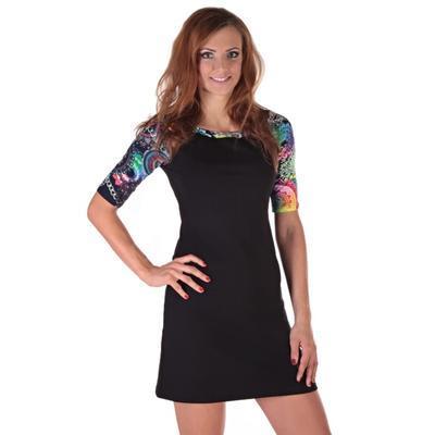 Krátke čierne šaty Aimee - 2