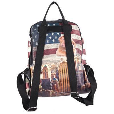 Štýlový batoh Natálie motív Amerika 2A - 2