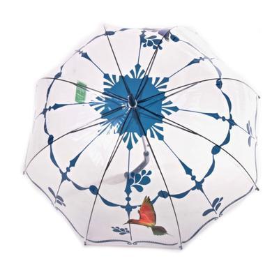 Průhledný deštník Luky tmavě modrý - 2