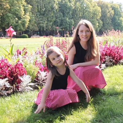 Dívčí červená sukně Isabel se srdíčky - 2