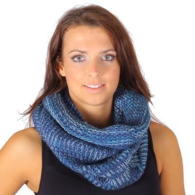 Hřejivá dámská kukla Irene modrá - 2