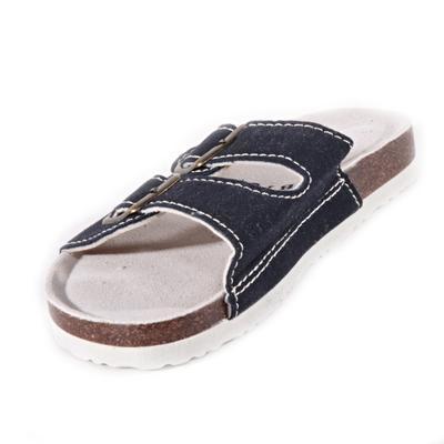 Páskové korkové papuče Simba tmavo modré - 2